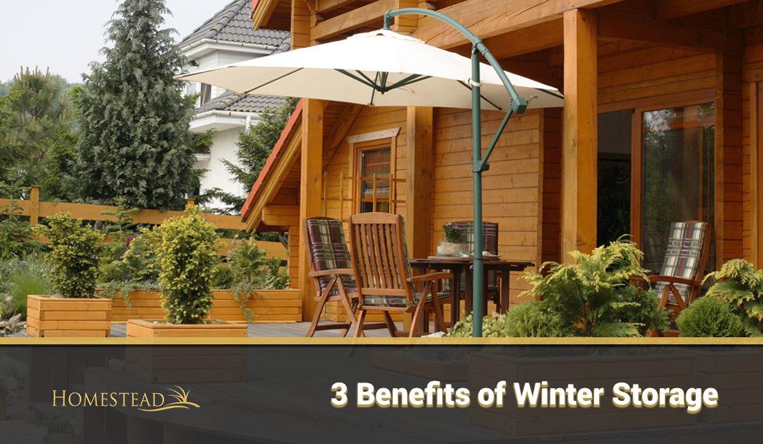 3 Benefits of Winter Storage