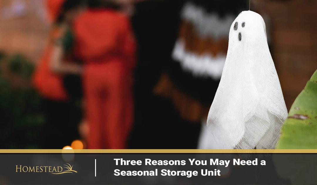 Three Reasons You May Need a Seasonal Storage Unit